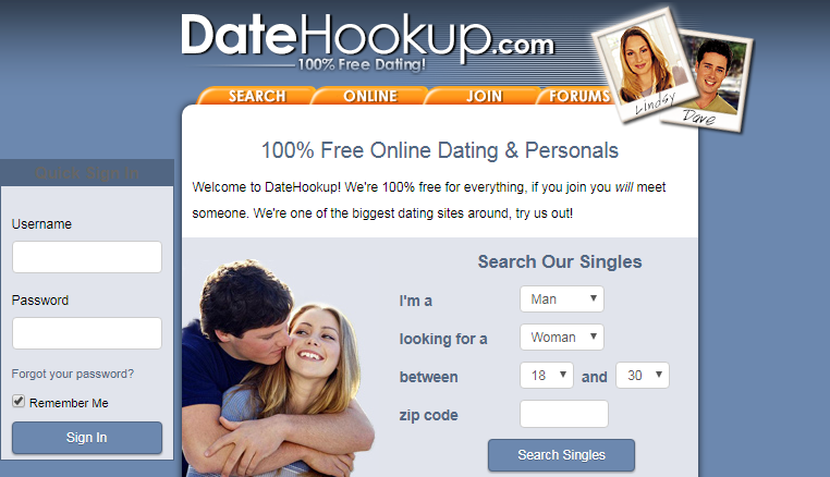 datehookup login page