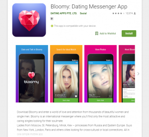 Bloomy Dating Sign Up Steps