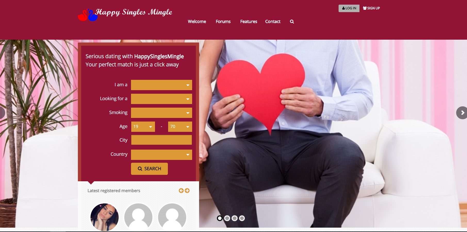Happysinglesmingle Sign Up Steps