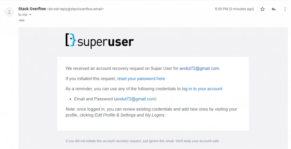 Superuser Reset and Change Password