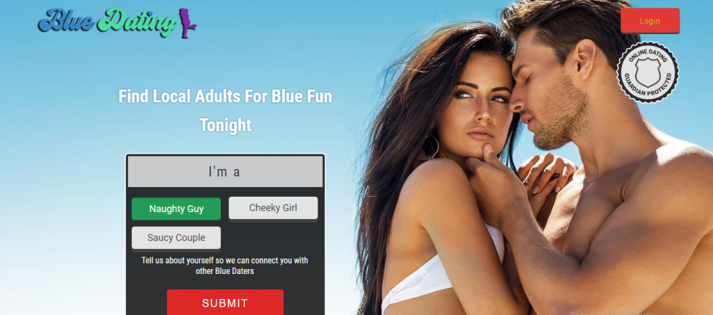 create blue online dating account