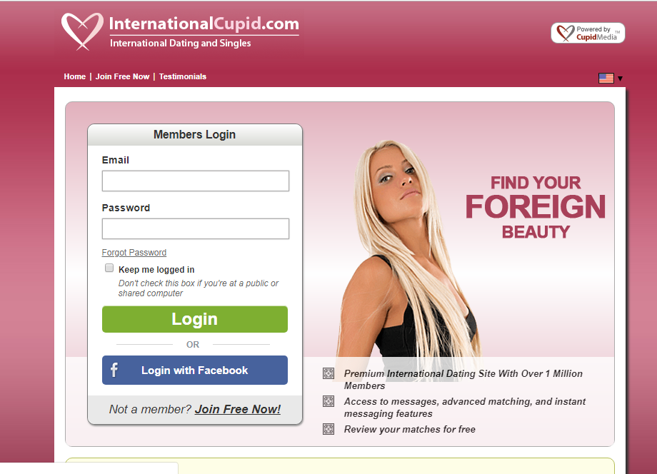 Cupid dating site login
