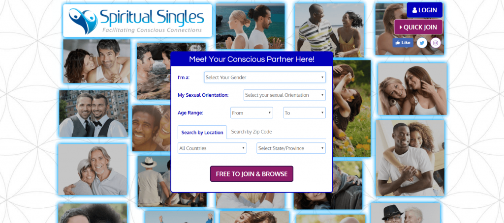Spiritual Singles Dating Site Login and Reset