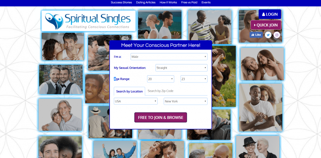 Spiritual Singles Dating Sign Up